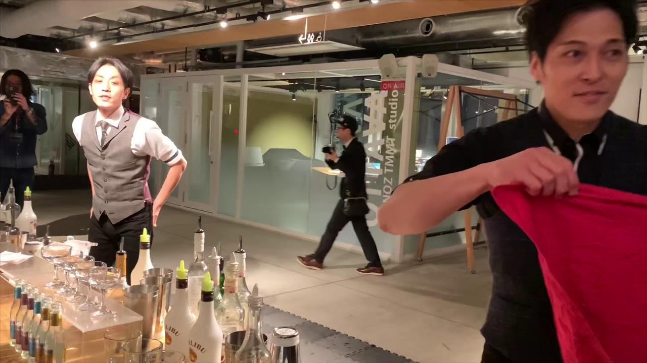 [動画]フレアバーテンダー 中村純と市川寛によるフレアカクテルショー