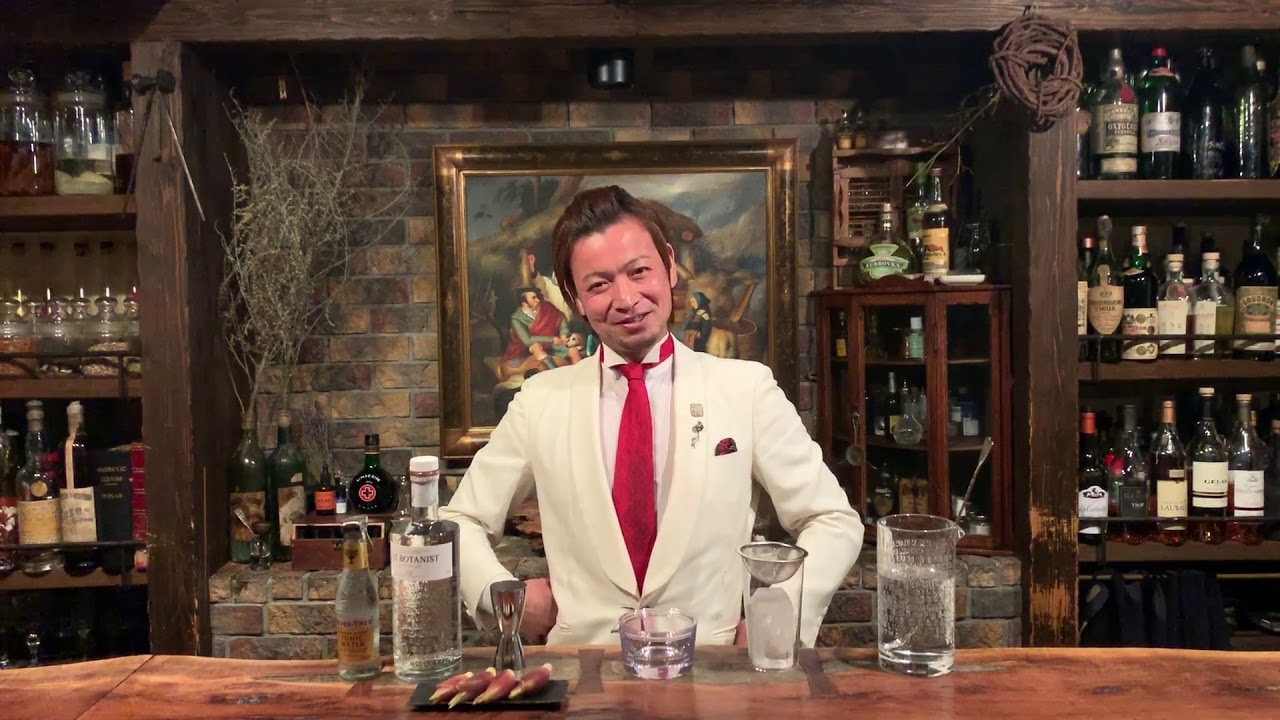 [動画]おうちカクテルwith THE BOTANIST #4「和香るジントニック」 by Bar Benfiddich 鹿山博康さん
