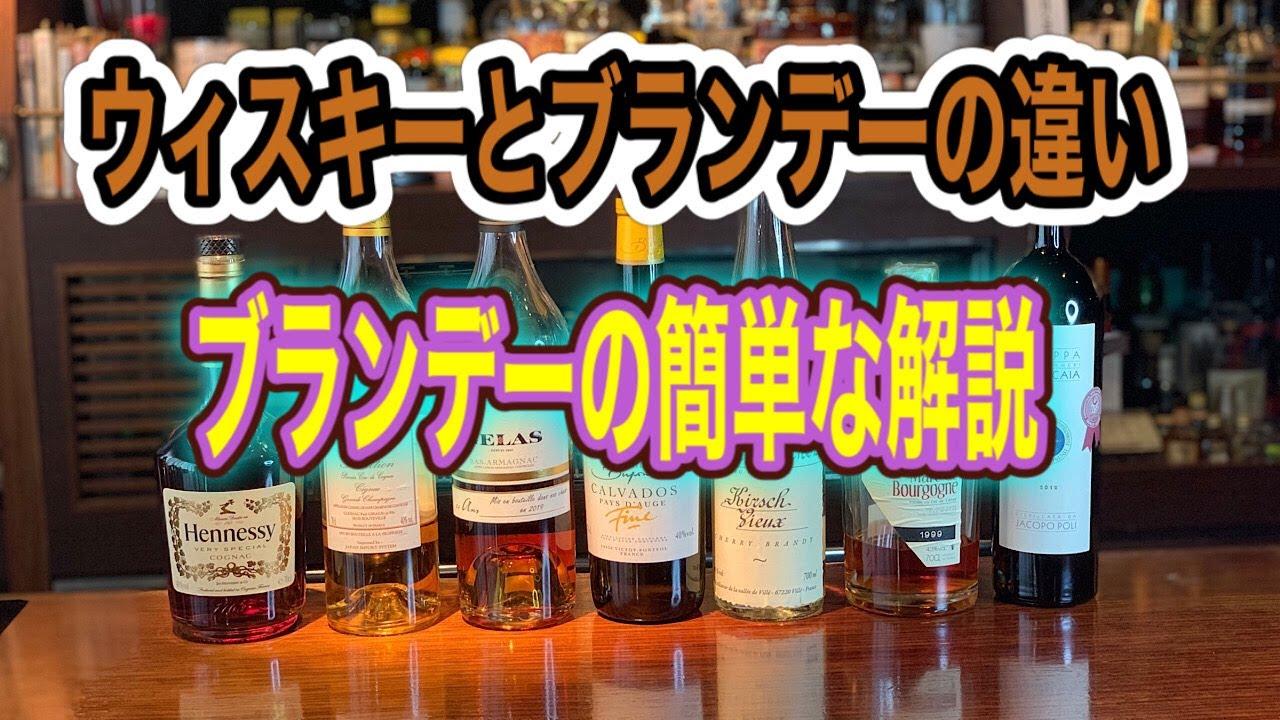 [動画]ウイスキーとブランデーの違い ブランデーの簡単な解説